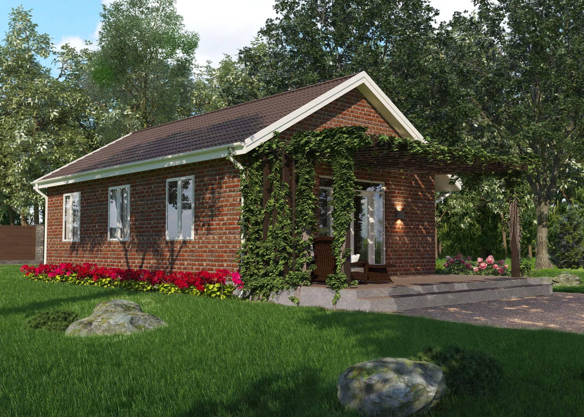 маленькие одноэтажные дома картинки женщина придумала