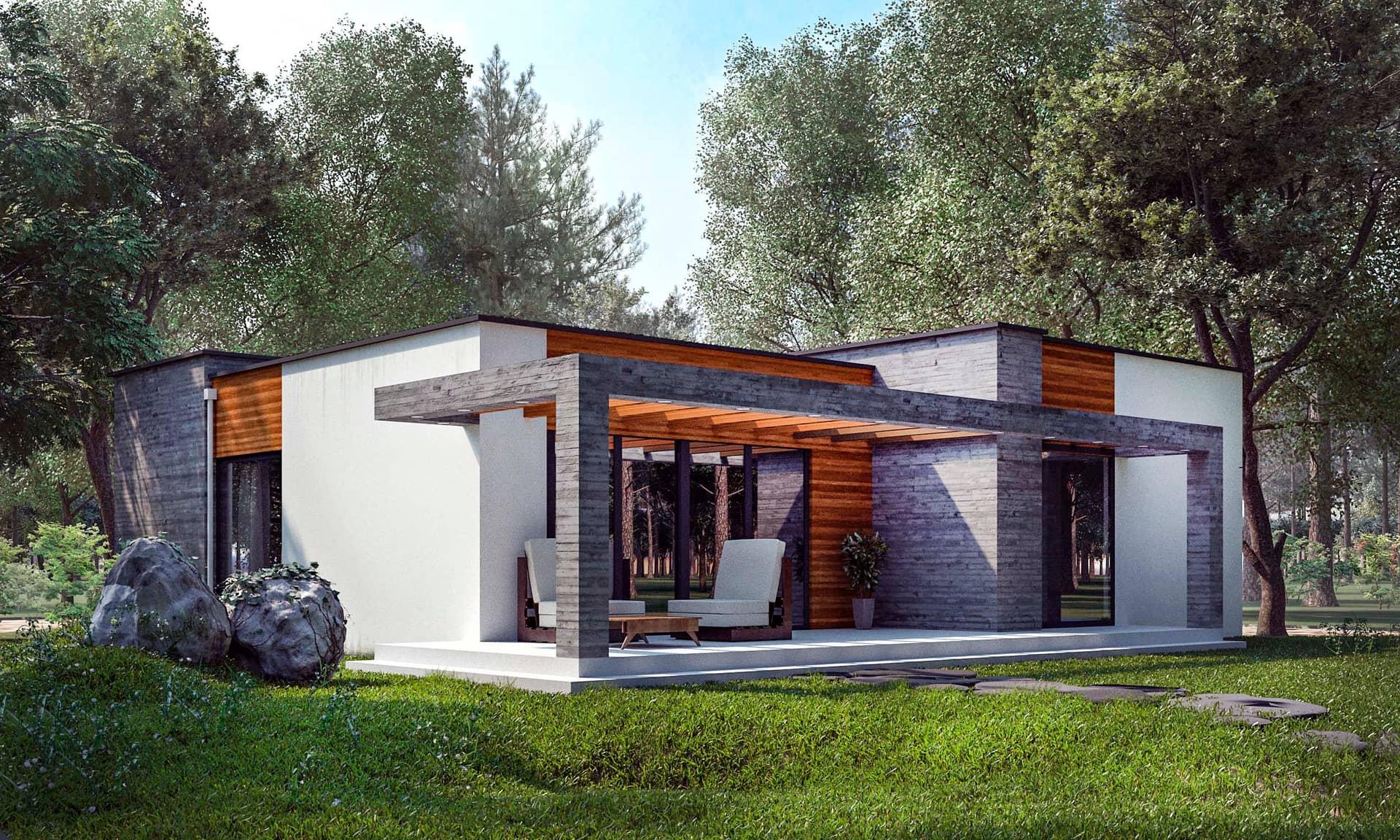 хочется обнимать, небольшие дома с плоской крышей фото время начала
